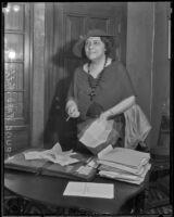 Civic activist Louise Ward Watkins, 1934