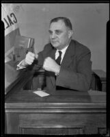 Attorney Claude Watson testifies about grand selection, Los Angeles, 1935