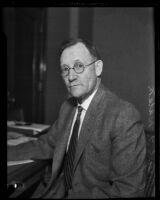 Deputy City Attorney Joseph T. Watson awarded the purple heart for bravery during World War I, Los Angeles, 1932