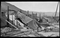 Tents from the Orange Show damaged by high winds, San Bernardino, 1924