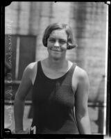 Mariechen M. Wehselau, future Olympic Gold Medal swimmer, Los Angeles, 1924