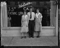 Three siblings, distant relatives of heiress Ella Wendel, Santa Monica, 1932