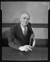 Joseph Weinblatt, who was convicted of conspiracy to obstruct justice, Los Angeles, 1934-1935