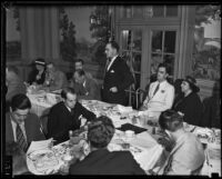 Junior Chamber of Commerce members at a meeting probably at the Biltmore, Los Angeles, 1934