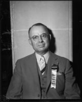 Dr. Arthur C. Wheery, president of the American Dental Association, at the Biltmore Hotel, Los Angeles, 1934