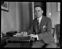 Norval White headed of the office of American Petroleum Institute, Los Angeles, 1930