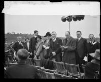 Dignitaries at the dedication ceremony for a proposed Lutheran university, Los Angeles, 1928