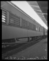 U.S. Marshal's federal prison transport railway car, Los Angeles, 1935
