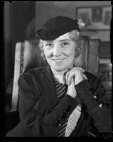 Portrait of actress Margaret Leahy Vogt following her divorce decree, Los Angeles, 1935