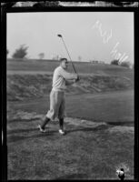 George Von Elm on a golf course, circa 1924-1938