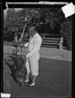 George Von Elm on a golf course, circa 1924-1938