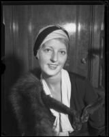 Theater actress Baroness Else von Koczian, 1927-1939