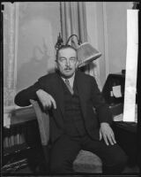 German statesmen Richard von Kuhlmann during a visit, Los Angeles, 1933