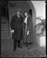 Frederick and Marcia von Reichenberg make their new home in Bel Air, Los Angeles, 1935