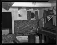 Interior of the ship where Captain Wanderwell's body was found, Long Beach, 1932