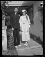 Roger and Helen Williams are married, Pasadena, 1933