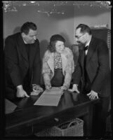 Father Mathias Lani, Attorney Sadie Gelb and Rabbi Mayer Winkler, 1934