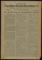 Deutsches Nachrichtenbüro. 3 Jahrg., 1936 August 1, Olympia-Sonderdienst Nr. 17