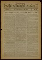 Deutsches Nachrichtenbüro. 3 Jahrg., Nr. 559, 1936 May 2, Erste Morgen-Ausgabe
