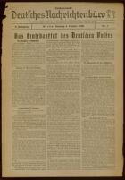 """Deutsches Nachrichtenbüro. 3 Jahrg., 1936 October 4, Sonder-Ausgabe Nr. 1: """"Das Erntedankfest des Deutschen Volkes"""""""