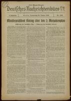 Deutsches Nachrichtenbüro. 3 Jahrg., Nr. 1433, 1936 October 29, Erste Morgen-Ausgabe