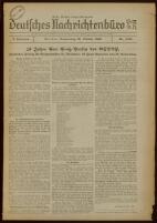Deutsches Nachrichtenbüro. 3 Jahrg., Nr. 1438, 1936 October 29, Erste Nachmittags-Ausgabe