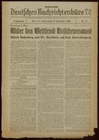 """Deutsches Nachrichtenbüro. 3 Jahrg., 1936 September 10, Sonder-Ausgabe Nr. 15: """"Parteitag der Ehre"""""""