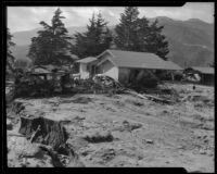 House destroyed by a catastrophic flood and mudslide, La Crescenta-Montrose, 1934