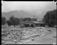 Stone house gutted by a catastrophic flood, La Crescenta-Montrose, 1934