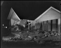 House severly damaged by a catastrophic flood and mudslide, La Crescenta-Montrose, 1934