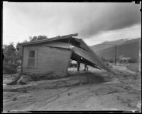 Home destroyed by severe flooding and mudslides following heavy rains, La Crescenta-Montrose, 1934