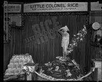 Rice Growers Association of California exhibit at the Food and Household Show, Los Angeles, 1932