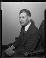 Former Police Commissioner Fred Gollum faces charges of petty theft, Los Angeles, 1935