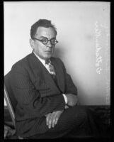 Portrait of attorney Theodore Gottsdanker, 1918-1934