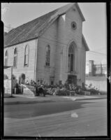 Nineteenth century (?) synagogue, repurposed as a boarding house, (Los Angeles?)