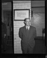 Sidney T. Graves in jail, Los Angeles, 1933