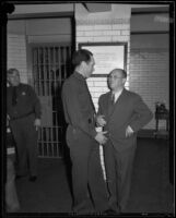 Sidney T. Graves and prison guard, Los Angeles, 1933