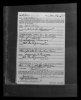 Safe deposit box rental application used as bridery evidence used against Sidney T. Graves, Los Angeles, 1933