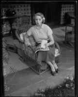 Princess Katherine of Greece and Denmark, seated portrait, Beverly Hills, 1935