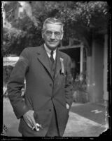 Doctor Robert Greenough at the California Medical Association convention at the Huntington Hotel, Pasadena, 1932