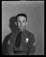 Portrait of Fullerton police sergeant J.C. Gregory, Los Angeles, April 24, 1935