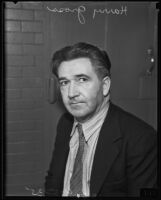 Harry Gross in prison waiting for trial, Los Angeles, 1935