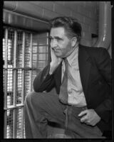 Harry Gross poses in prison, waiting for trial, Los Angeles, 1935