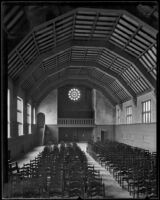 Interior of Gunsaulus Hall of the Wilshire Boulevard Congregational Church, Los Angeles, 1926