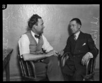 S.S. Hahn with his client Stanley M. Sharpe, Los Angeles, 1925