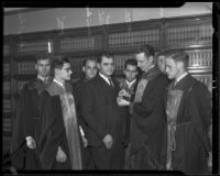 U.S. Attorney Peirson M. Hall's induction into law fraternity, Los Angeles, 1935