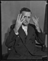 Confessed murderer John H. Happel testifying in court, Los Angeles, 1935