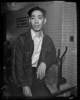 Confessed murderer Koji Hatamoto in prison awaiting trial, Los Angeles, 1932