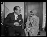 Actress and dancer Jean Jarvis with Edward Usher Jr., Los Angeles, 1928