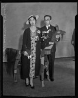 Prince and Princess Kaya of Japan at a Los Angeles Breakfast Club event at the Ambassador Hotel, Los Angeles, 1934